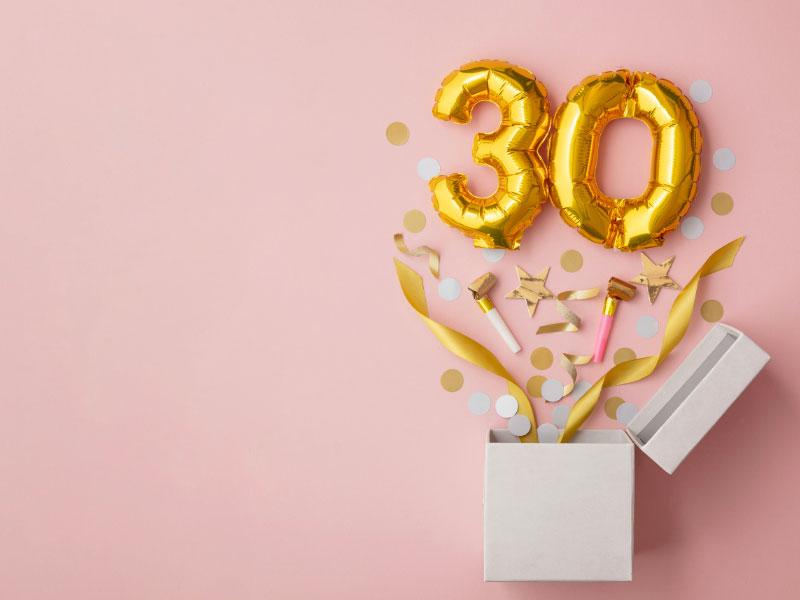 30 cadeaux pour ses 30 ans